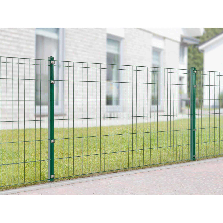 Metallzaun Set Michl Höhe 120 cm Länge 4 m Grün kaufen bei OBI
