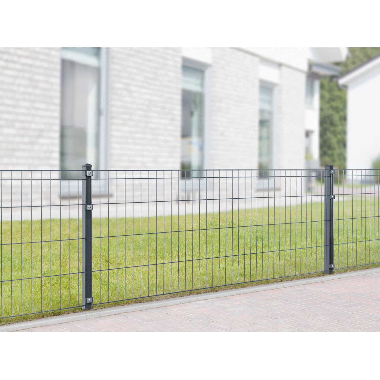 Metallzaun Set Michl Höhe 80 cm Länge 18 m Anthrazit kaufen bei OBI