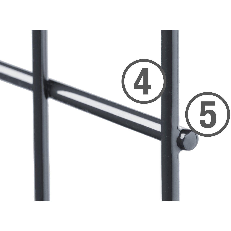 metallzaun set michl h he 120 cm l nge 6 m anthrazit. Black Bedroom Furniture Sets. Home Design Ideas
