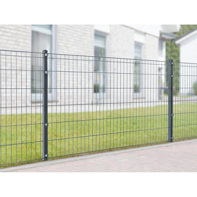 Metallzaun Set Michl Hohe 120 Cm Lange 12 M Anthrazit Kaufen Bei Obi
