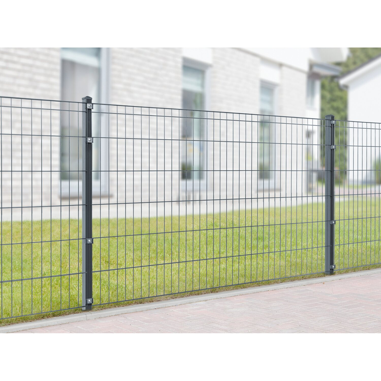 metallzaun set michl h he 120 cm l nge 30 m anthrazit kaufen bei obi. Black Bedroom Furniture Sets. Home Design Ideas