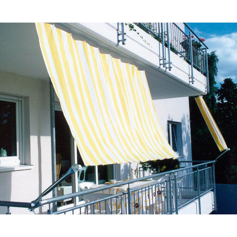 Floracord Balkonverkleidung Bausatz Ii Gelb Weiss 270 Cm X 140 Cm