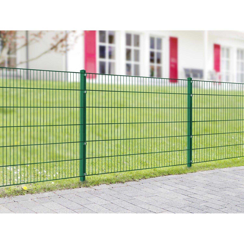 Metallzaun Set Pico Höhe 100 cm Länge 4 m Grün kaufen bei OBI