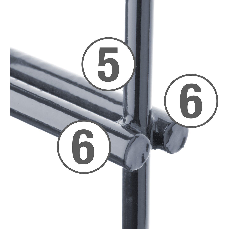 Trendig Metallzaun-Set Pico Höhe 80 cm Länge 4 m Anthrazit kaufen bei OBI OZ39