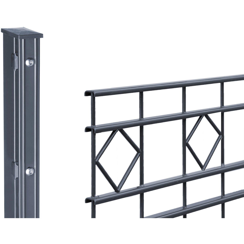 Turbo Metallzaun-Set Turin Höhe 80 cm Länge 21,2 m Anthrazit kaufen bei OBI GL97