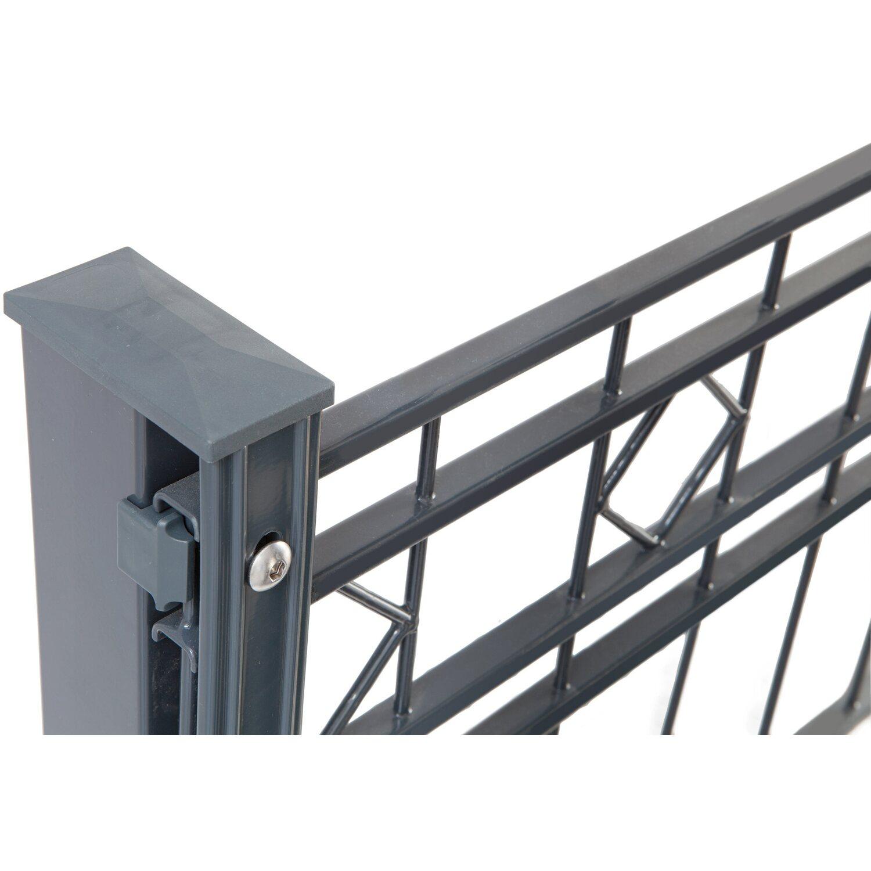 Relativ Metallzaun-Set Turin Höhe 80 cm Länge 21,2 m Anthrazit kaufen bei OBI CA86