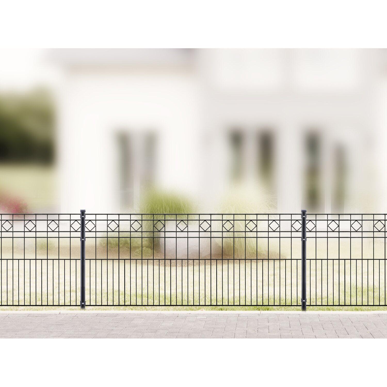 Gut gemocht Metallzaun-Set Turin Höhe 80 cm Länge 21,2 m Anthrazit kaufen bei OBI OQ76
