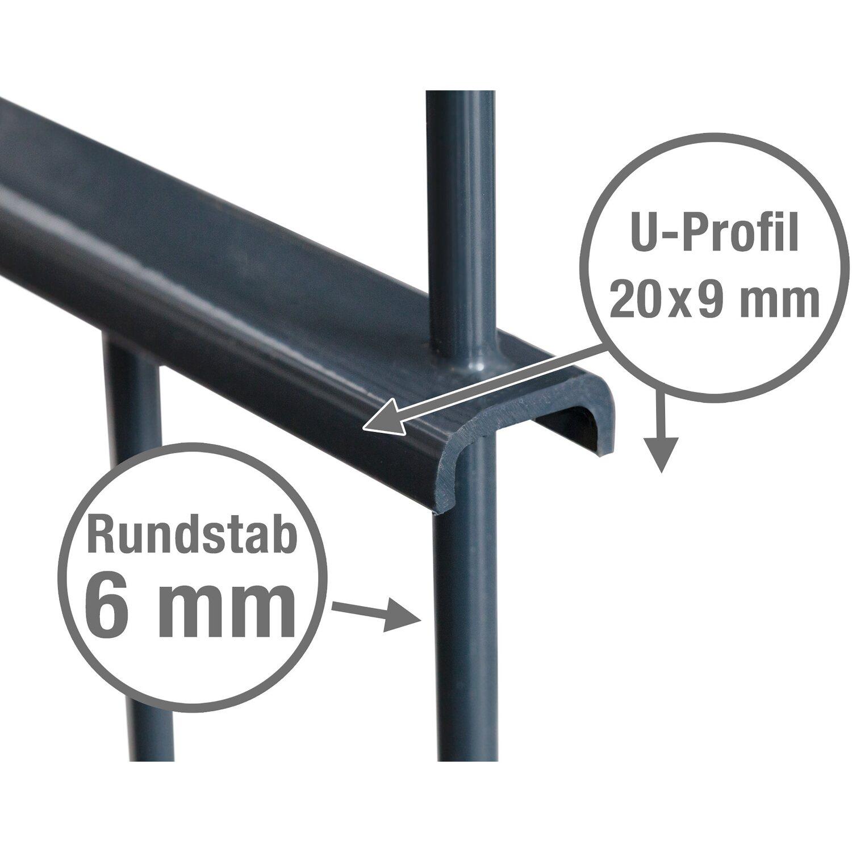 Großartig Metallzaun-Set Rimini Höhe 90 cm Länge 3,9 m Anthrazit kaufen bei OBI EN17