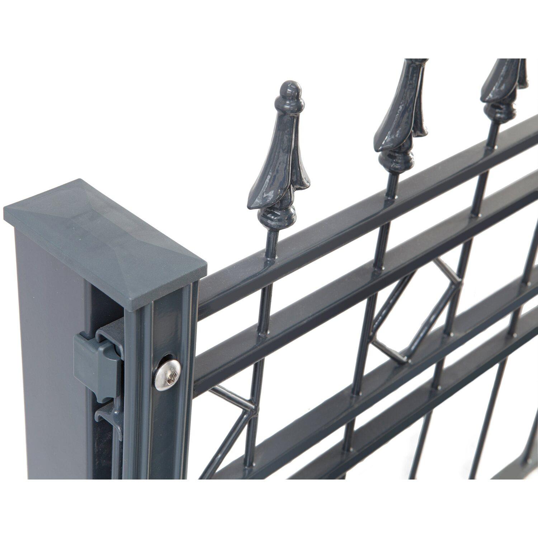 Brandneu Metallzaun-Set Rimini Höhe 110 cm Länge 3,9 m Anthrazit kaufen bei OBI GE77