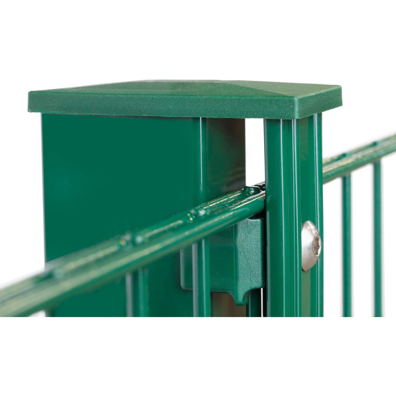 Metallzaun Set Valencia Höhe 80 cm Länge 4 m Grün kaufen bei OBI