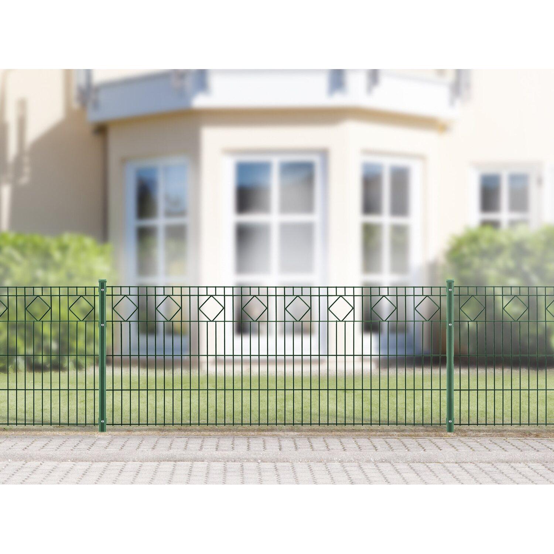 Metallzaun-Set Valencia Höhe 80 cm Länge 4 m Grün kaufen bei OBI