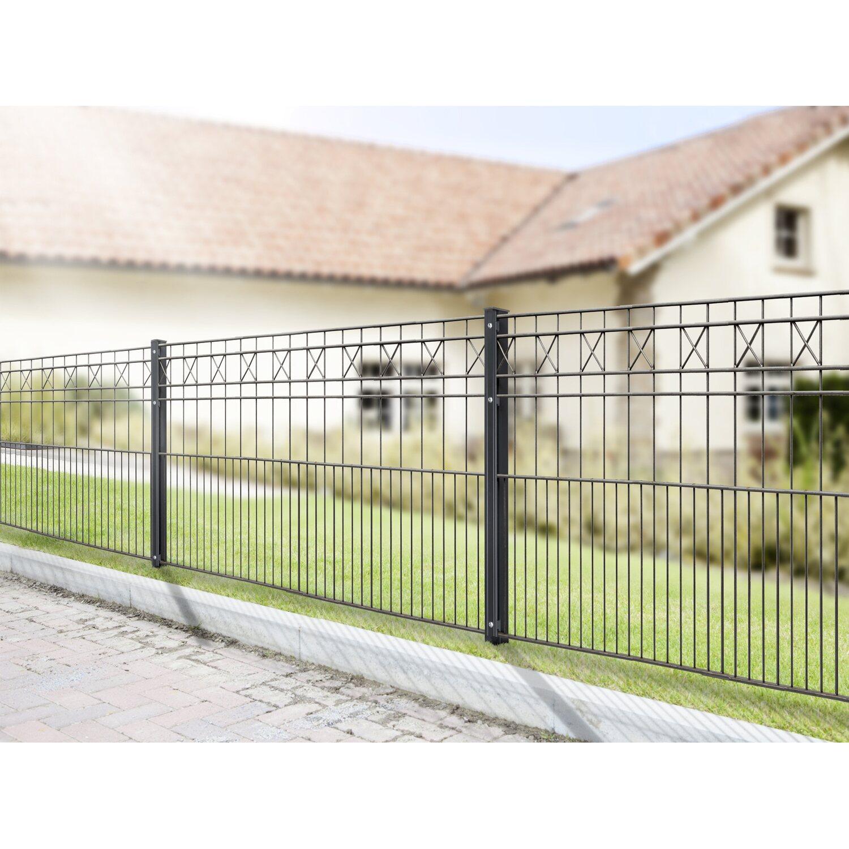 Gut bekannt Metallzaun-Set Pisa Höhe 80 cm Länge 3,9 m Anthrazit kaufen bei OBI PJ57