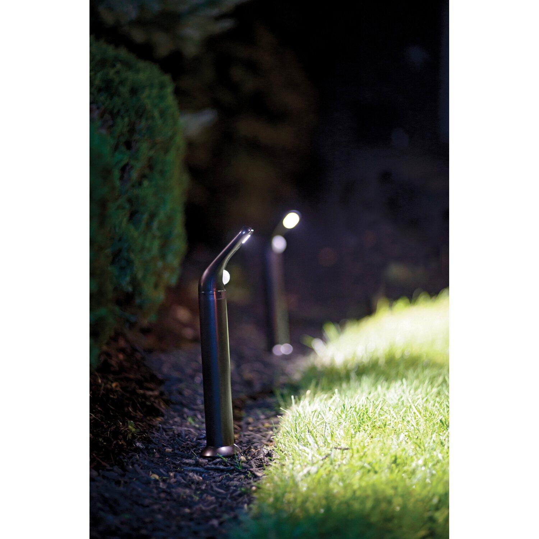 mr beams led wegeleuchte mit bewegungsmelder mb592 braun 2er pack kaufen bei obi. Black Bedroom Furniture Sets. Home Design Ideas
