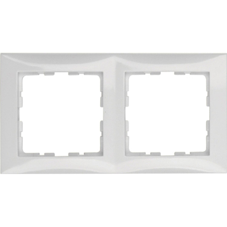 berker abdeckrahmen 2 fach s1 polarwei. Black Bedroom Furniture Sets. Home Design Ideas