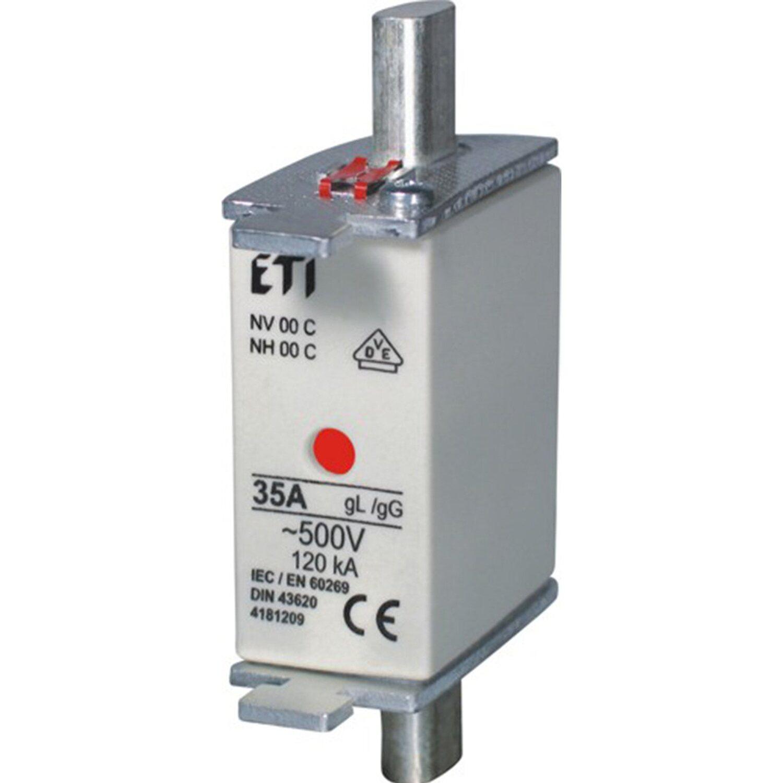 ETI NH-Sicherungseinsätze Größe C00 Kombi 80 A