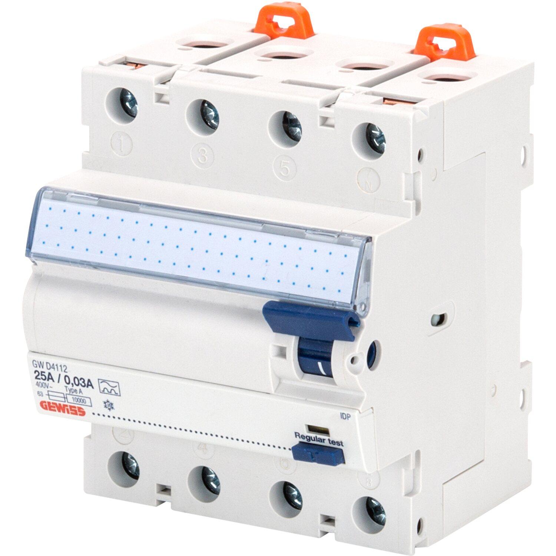 Gewiss FI-Schutzschalter 4-polig 40 A (4 Module) kaufen bei OBI