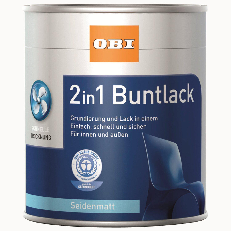 OBI  2in1 Buntlack Reinweiß seidenmatt 750 ml
