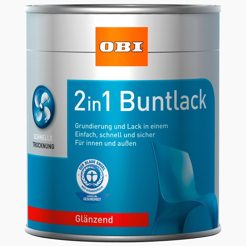 OBI  2in1 Buntlack Reinweiß glänzend 2,5 l