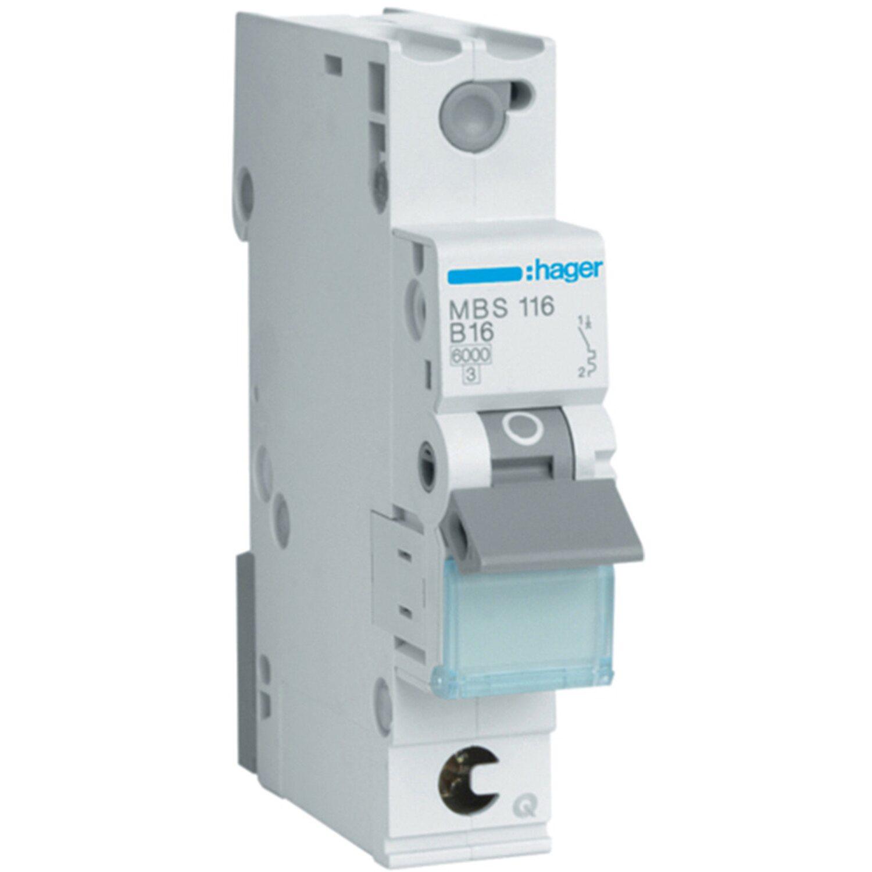 Hager QuickConnect Leitungsschutzschalter 1-polig B 16 A