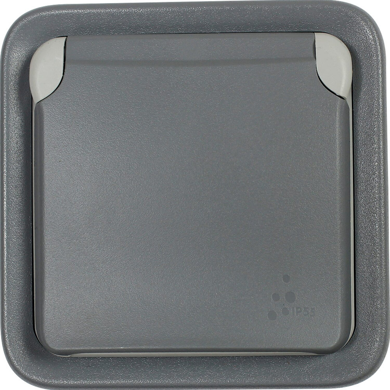 Legrand Aufputz-Feuchtraum Steckdose 1-fach Plexo55 Grau