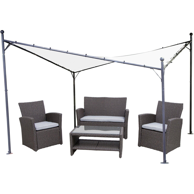 siena garden pavillon berlino 400 cm x 400 cm wei kaufen bei obi. Black Bedroom Furniture Sets. Home Design Ideas