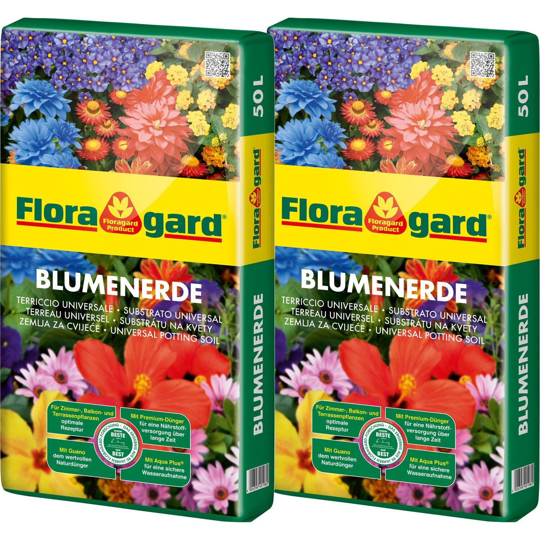 Floragard  Blumenerde 2 x 50 l