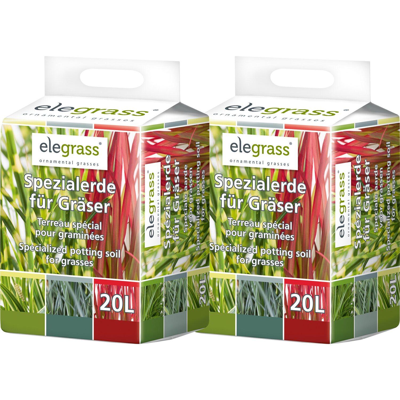 Elegrass  Spezialerde für Gräser 2 x 20 l