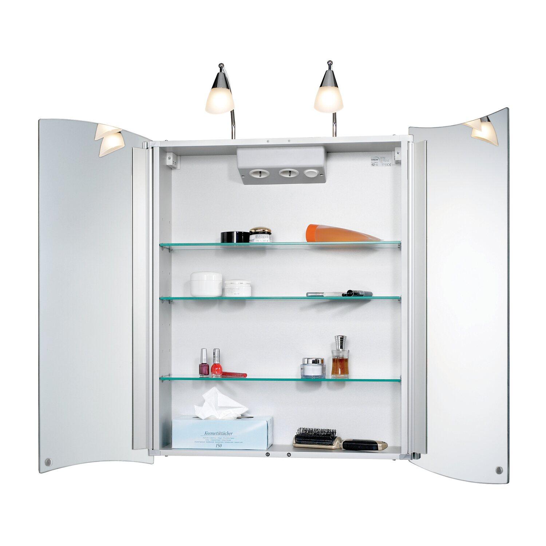 Sieper Spiegelschrank, Alustyle 65 cm Alu EEK: D kaufen bei OBI