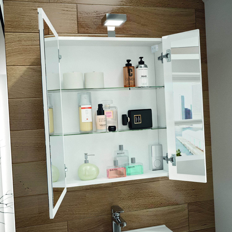 allibert spiegelschrank 60 cm wei eek a kaufen bei obi. Black Bedroom Furniture Sets. Home Design Ideas