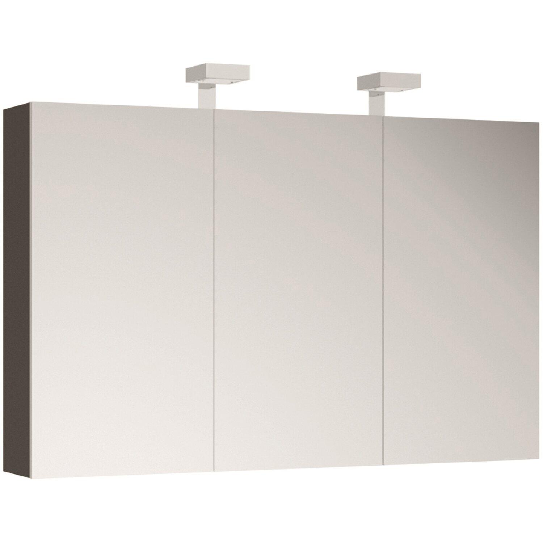 Allibert spiegelschrank 120 cm asphaltgrau gl nzend eek a for Spiegelschrank 120