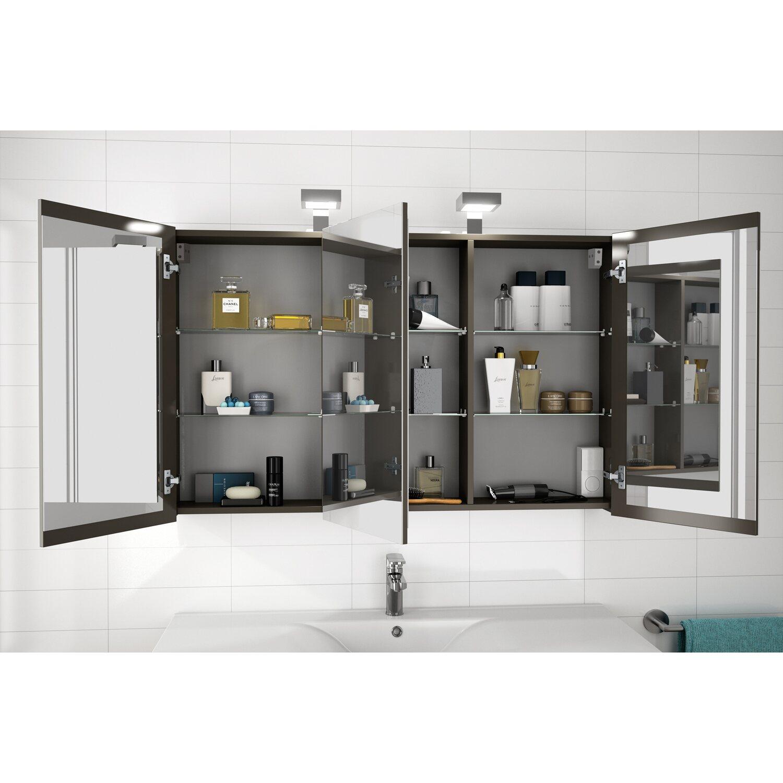 allibert spiegelschrank 120 cm asphaltgrau gl nzend eek a. Black Bedroom Furniture Sets. Home Design Ideas