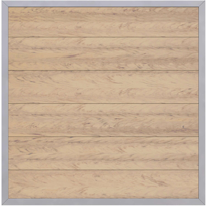 sichtschutzzaun element design wpc alu sand 180 cm x 180 cm kaufen bei obi. Black Bedroom Furniture Sets. Home Design Ideas