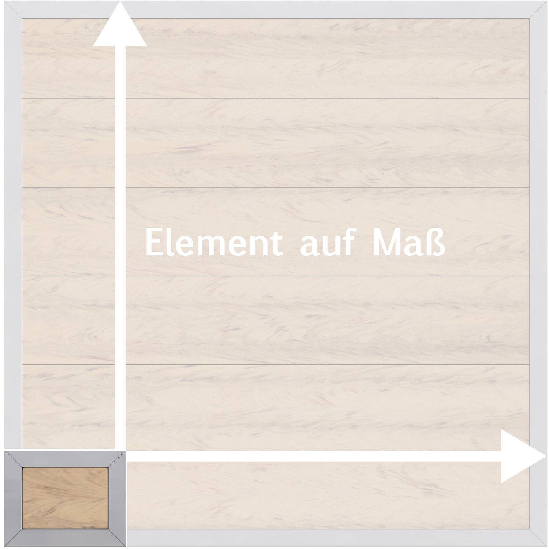 sichtschutzzaun element design wpc alu sand ma breite h he kaufen bei obi. Black Bedroom Furniture Sets. Home Design Ideas