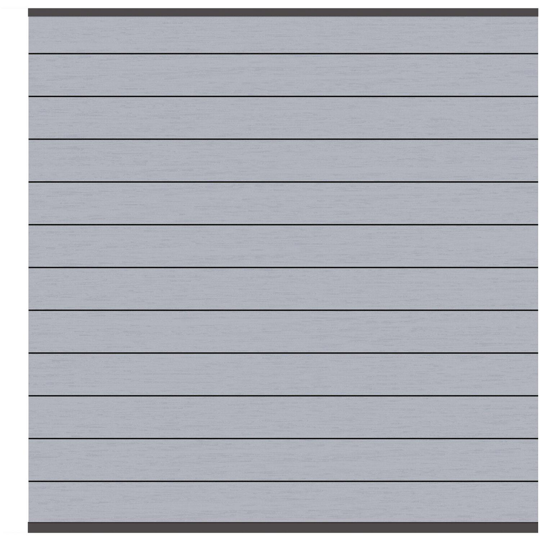Sichtschutzzaun Element System Wpc Grau Anthrazit 178 X 183 Cm