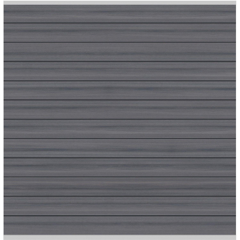 sichtschutzzaun element system platinum wpc grau silber 178 x 183 cm kaufen bei obi. Black Bedroom Furniture Sets. Home Design Ideas