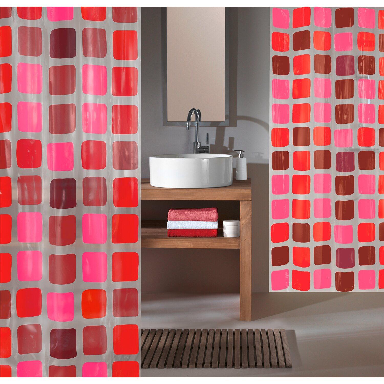 obi duschvorhang mary 180 cm x 200 cm rubin kaufen bei obi. Black Bedroom Furniture Sets. Home Design Ideas