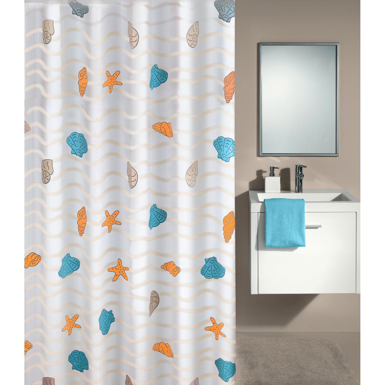 obi duschvorhang newwave 180 cm x 200 cm multicolor kaufen. Black Bedroom Furniture Sets. Home Design Ideas