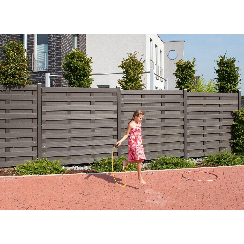 Sichtschutzzaun Element Jumbo WPC Anthrazit 179 cm x 179 cm kaufen