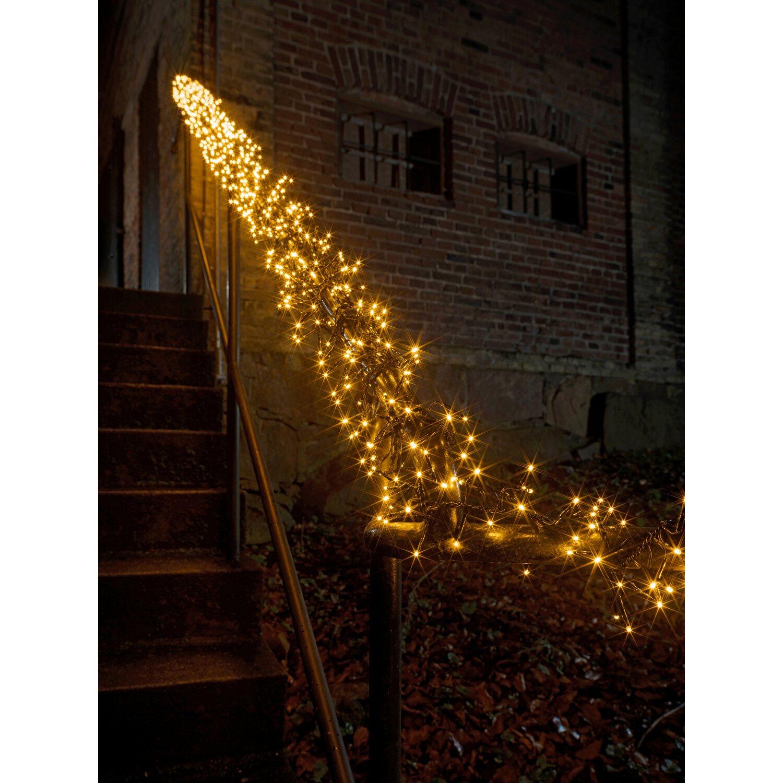 Weihnachtsbeleuchtung Aussen Led Preis.Konstsmide Micro Led Lichterkette Cluster 1152 Bernsteinf Leds Innen Und Außen