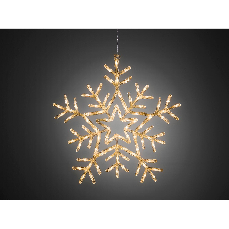 Konstsmide LED Acryl Schneeflocke 90 warmweiße LEDs 8 Funktionen ...