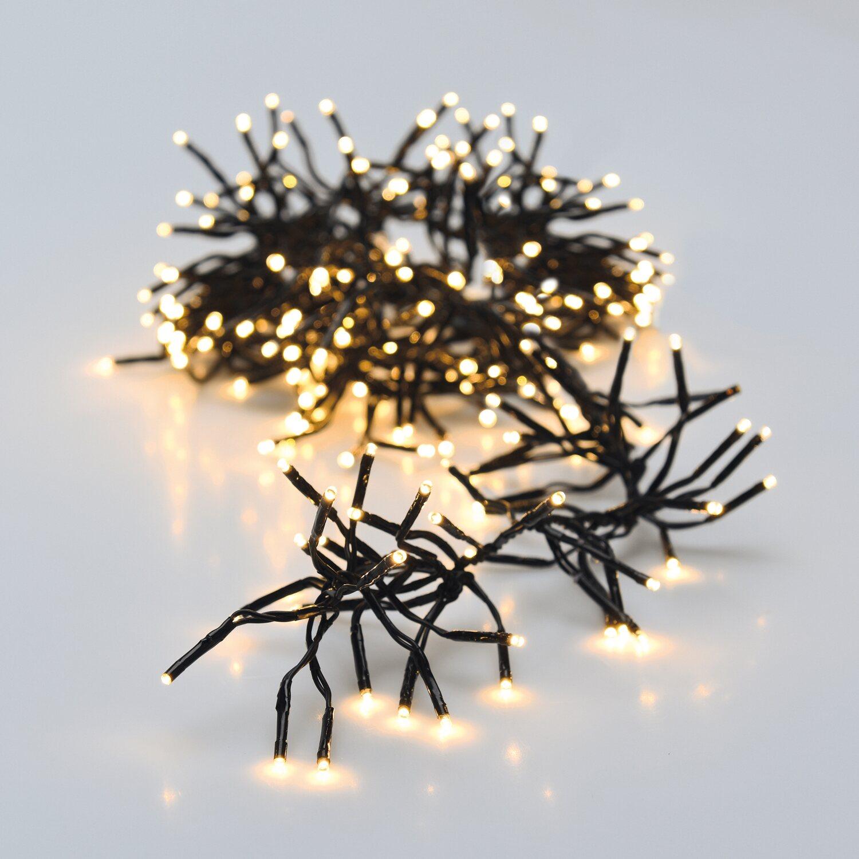 Lichterkette 576 LED warmweiss Weihnachtsbeleuchtung Büschellichterkette IP44