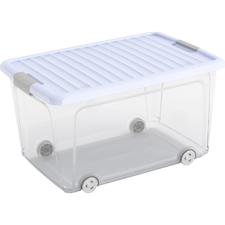 aufbewahrungsbox w l hoch mit deckel 4 rollen blueberry kaufen bei obi. Black Bedroom Furniture Sets. Home Design Ideas