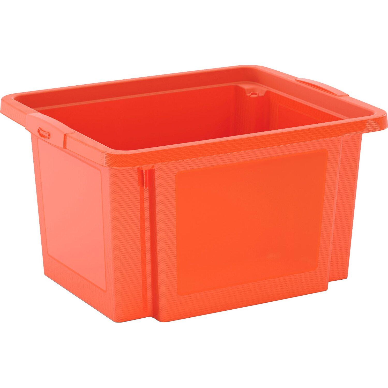 h stapelbox 23 l orange kaufen bei obi. Black Bedroom Furniture Sets. Home Design Ideas