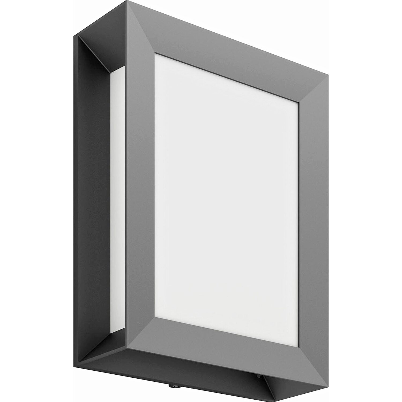 philips mygarden led au enwandleuchte karp anthrazit eek a a kaufen bei obi. Black Bedroom Furniture Sets. Home Design Ideas