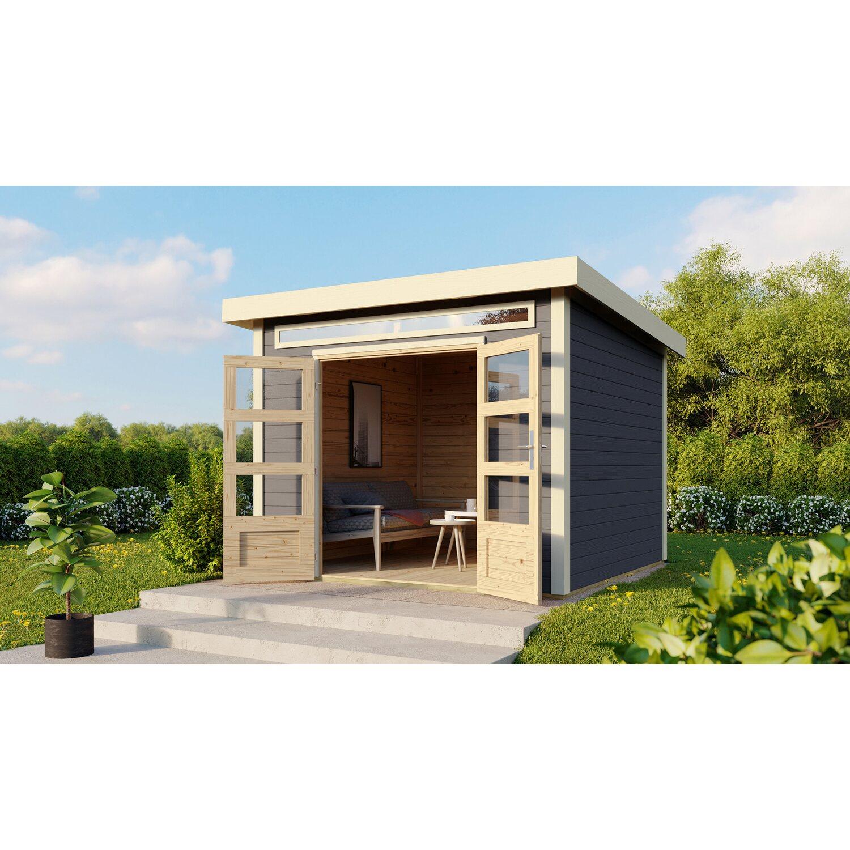 Woodfeeling Holz Gartenhaus Luzern 2 Terragrau Mit Boden U Dachfolie Bxt 270x Kaufen Bei Obi