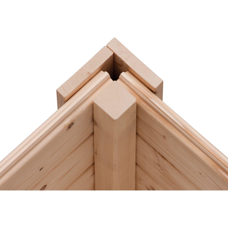 Karibu Holz Gartenhaus Tessin 1 Natur 240 X 240 Cm Inkl Boden Und