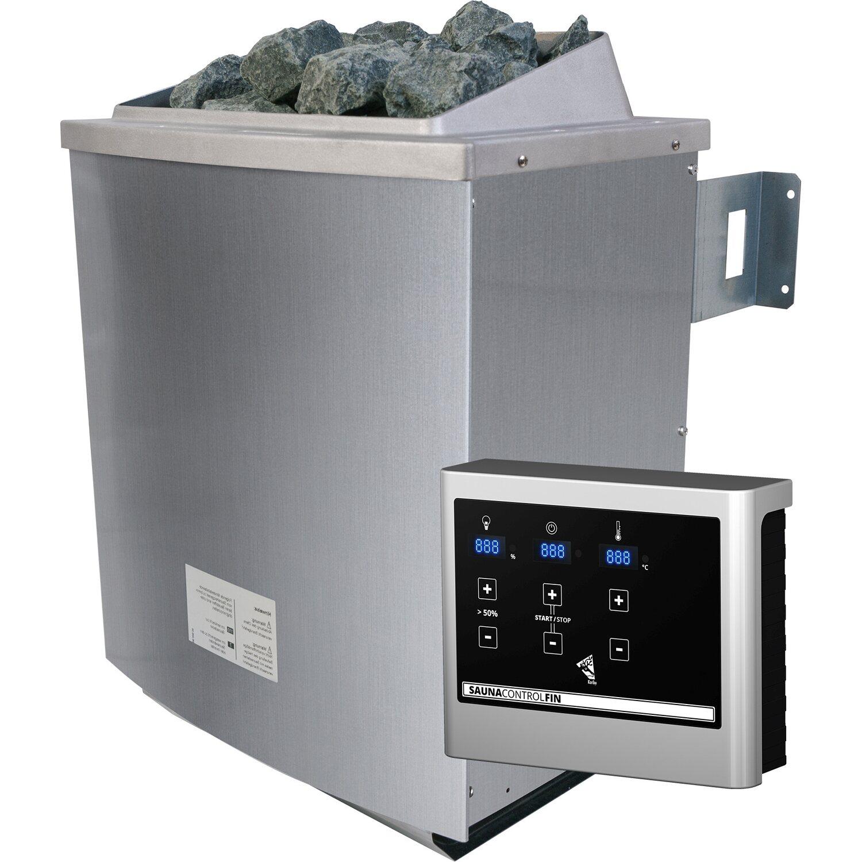 Karibu Saunaofen 9 kW Edelstahl inkl. Steuerungsgerät Easy | Bad > Sauna & Zubehör > Saunaöfen | Karibu