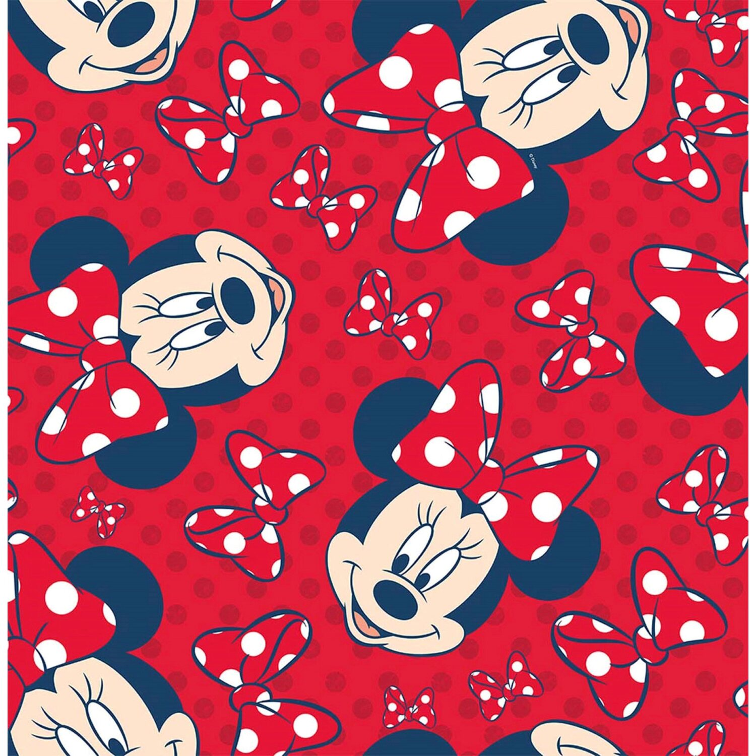 Graham & Brown Tapetenmuster Minnie Mouse Rot