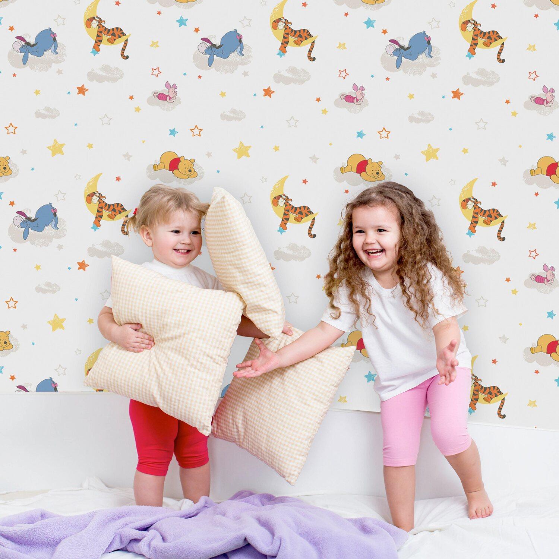 Graham & Brown Papiertapete Winnie Puuh schläft Mehrfarbig