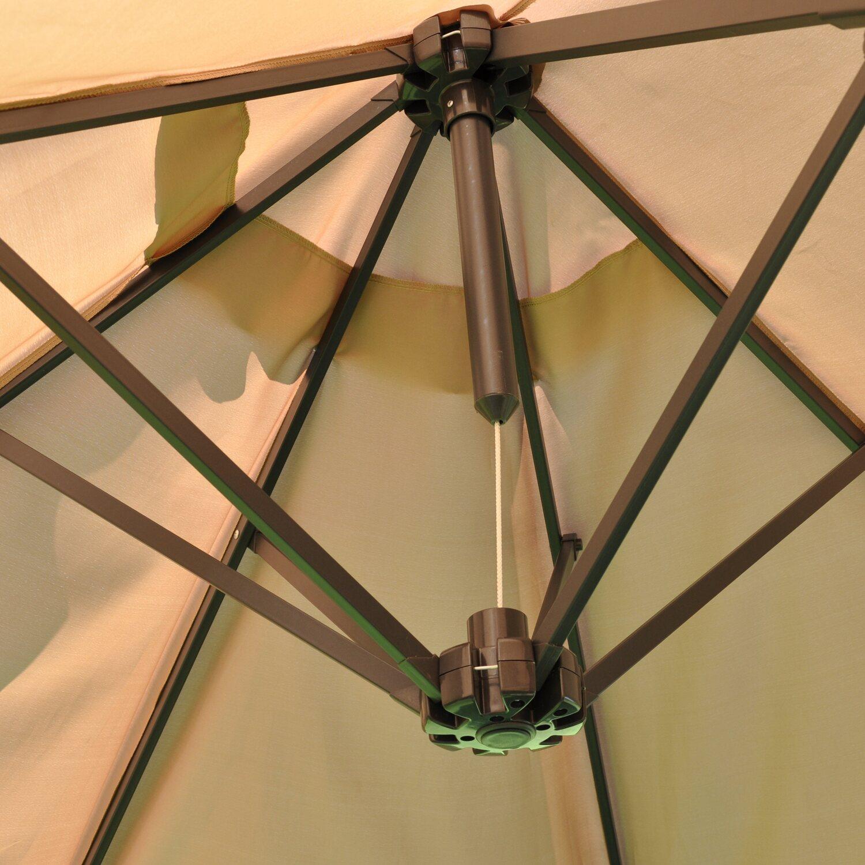 Leco Oval Marktschirm 270 Cm X 460 Cm Beige Kaufen Bei Obi